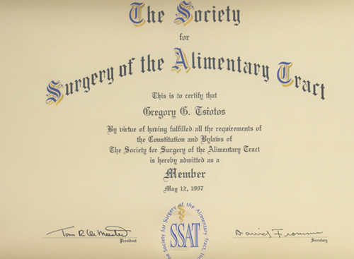 The Society for Surgery of the Alimentary Tract
